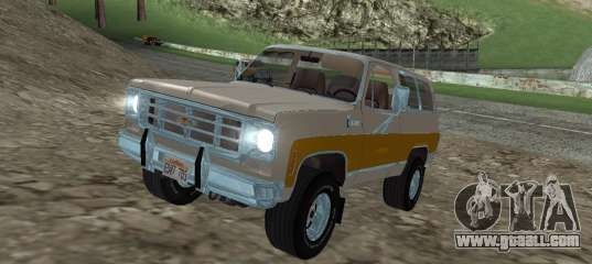 Chevrolet Blazer 1979 For Gta San Andreas