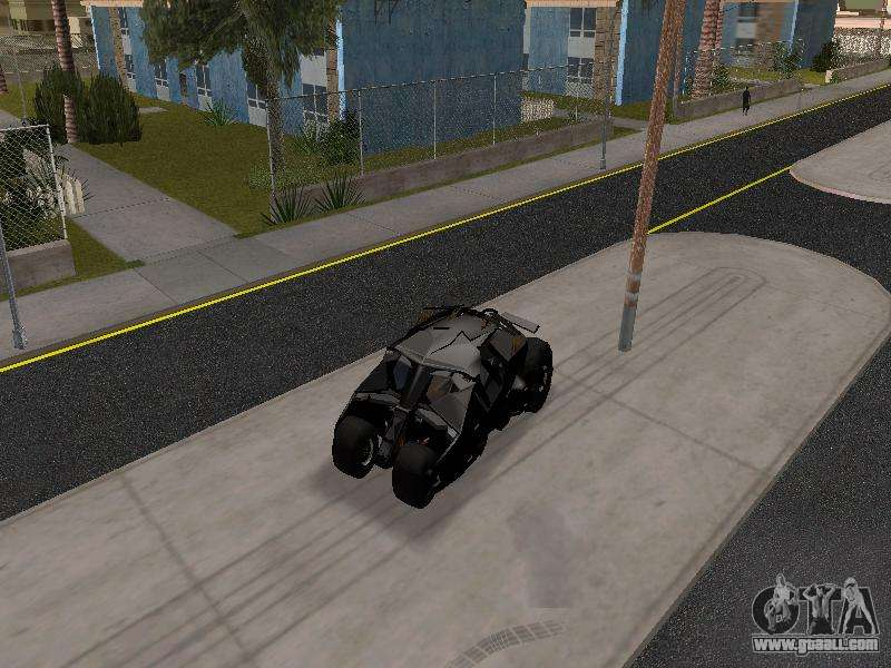 Jeep Albany Tumbler Batmobile 2.0 for GTA San Andreas