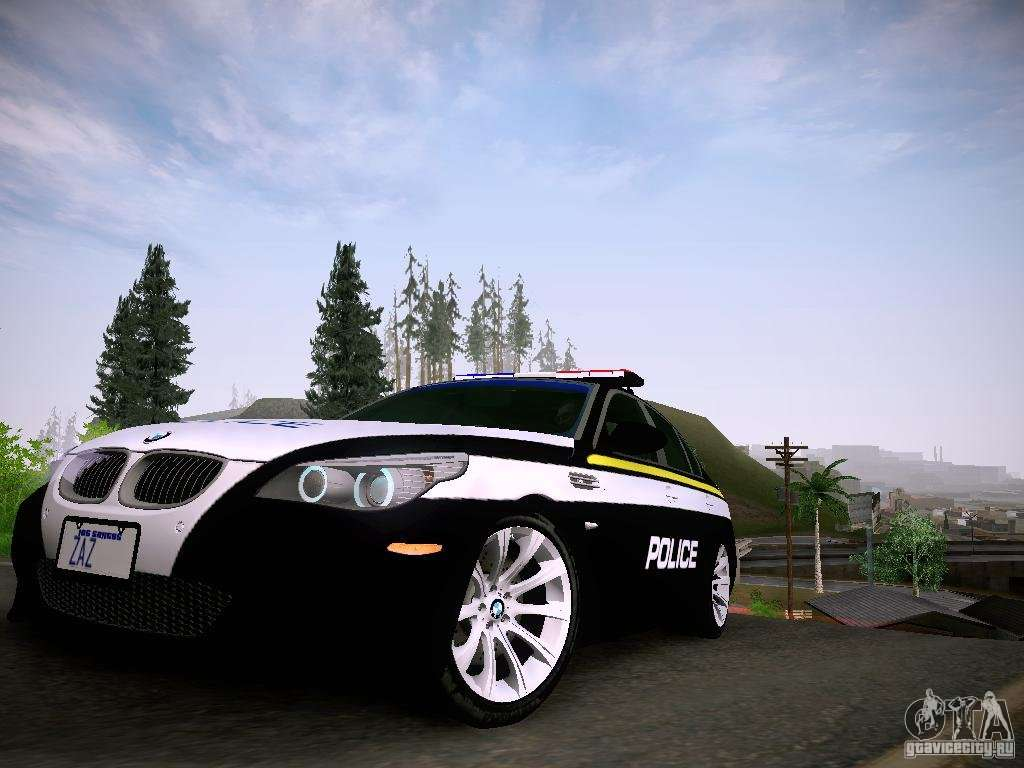 bmw m5 e60 police for gta san andreas. Black Bedroom Furniture Sets. Home Design Ideas