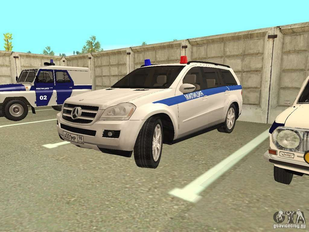 Mercedes benz gl500 police for gta san andreas for Mercedes benz gl500
