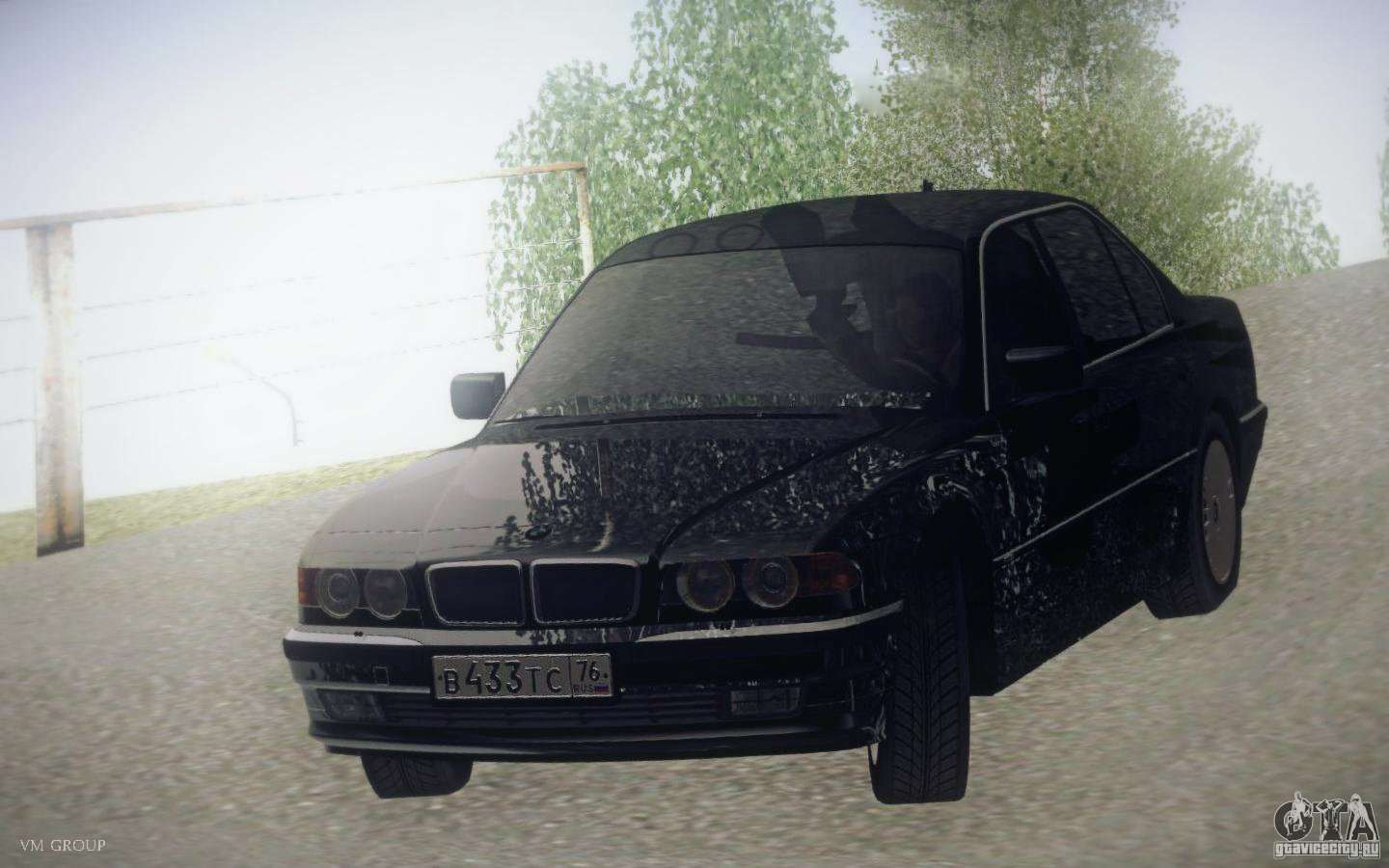 BMW 750i E38 2001 For GTA San Andreas Back View