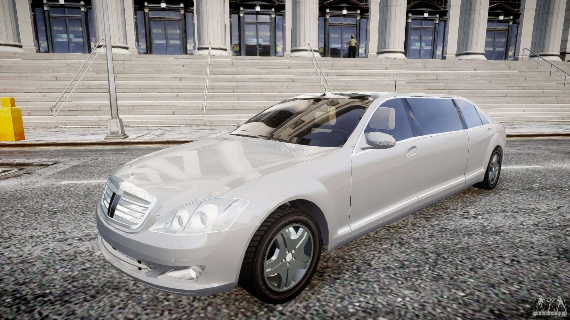 Mercedes benz s600 guard pullman 2008 for gta 4 for S 600 mercedes benz