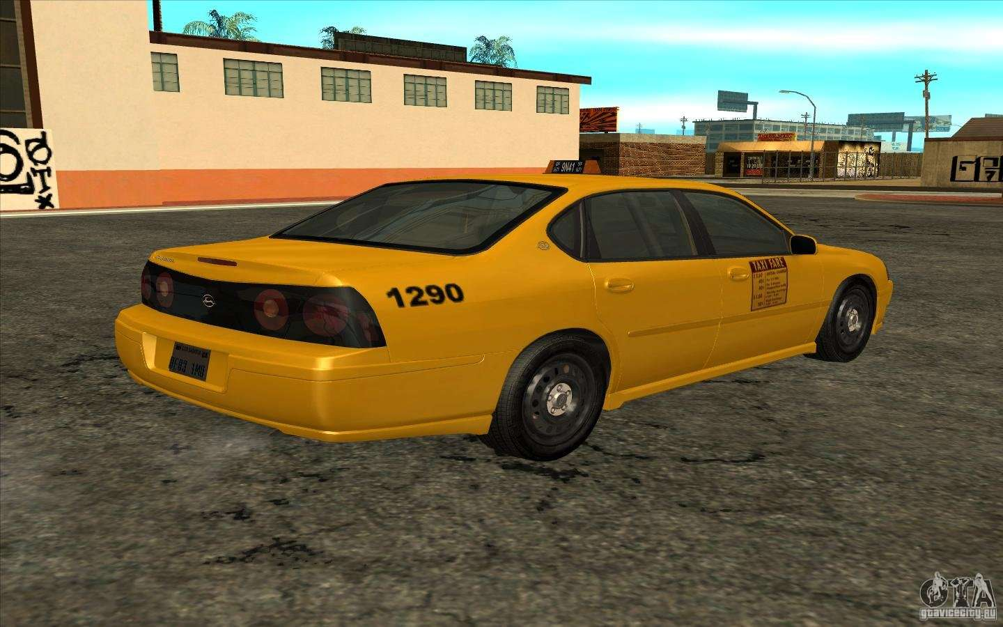 Chevrolet impala taxi 2003 for gta san andreas left view