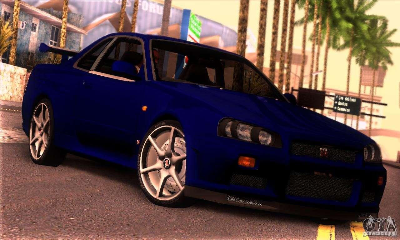 Nissan Gtr Interior >> Nissan Skyline R34 GT-R Tunable for GTA San Andreas