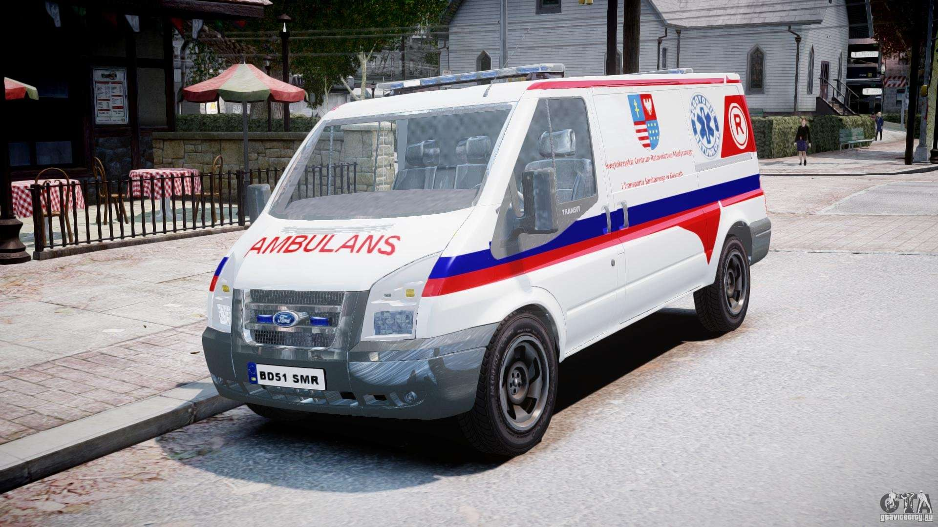 Ford 15 Passenger Van >> Ford Transit Polish Ambulance [ELS] for GTA 4