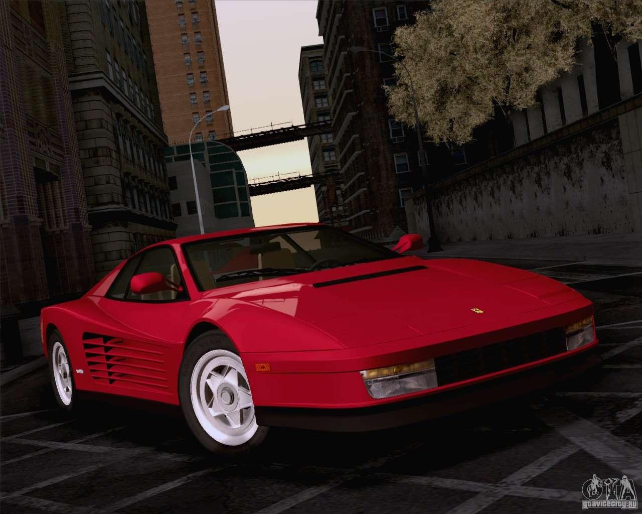 Ferrari Testarossa 1986 For Gta San Andreas