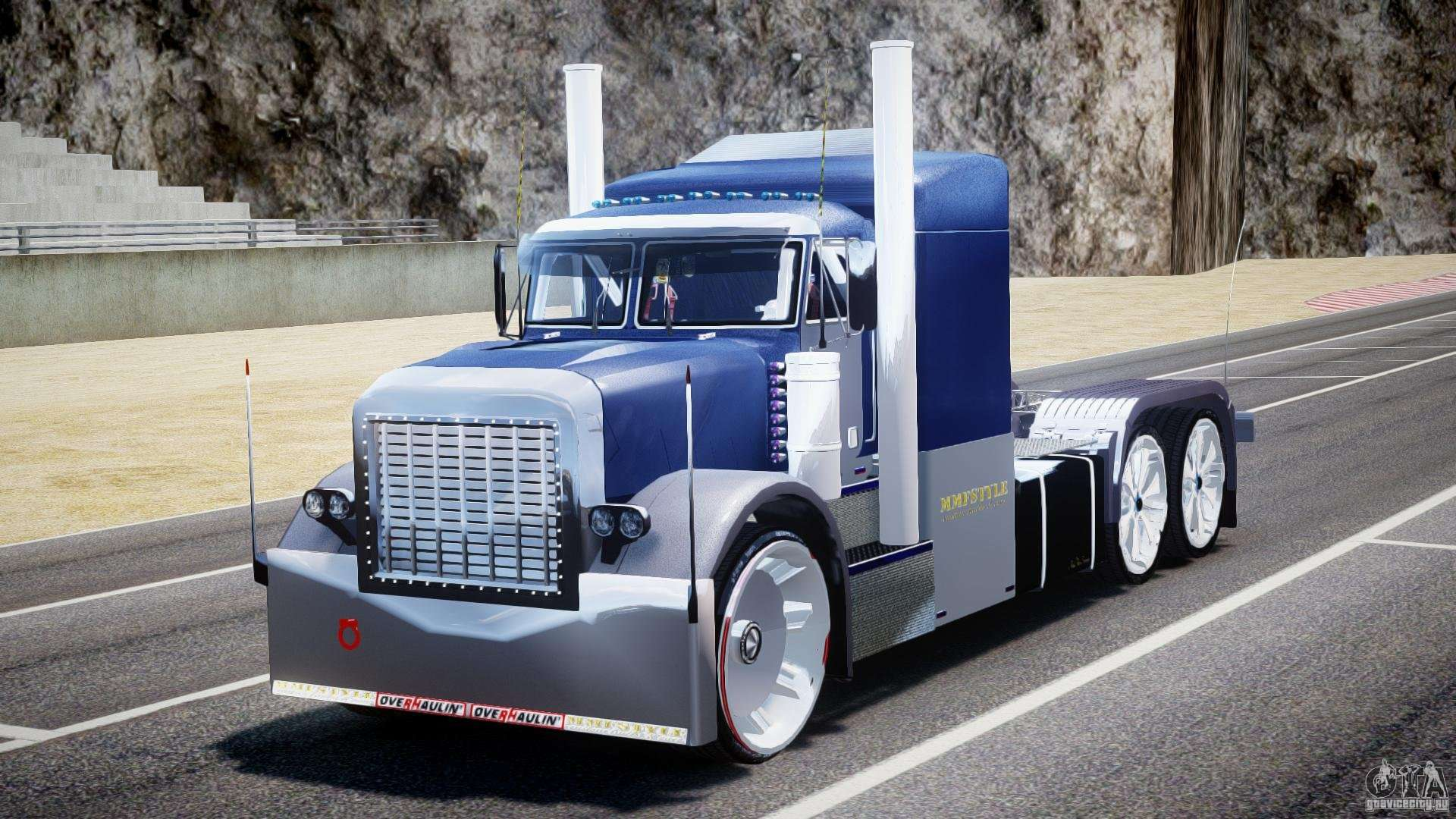 Inside Of A Semi Truck >> Peterbilt Truck Custom for GTA 4