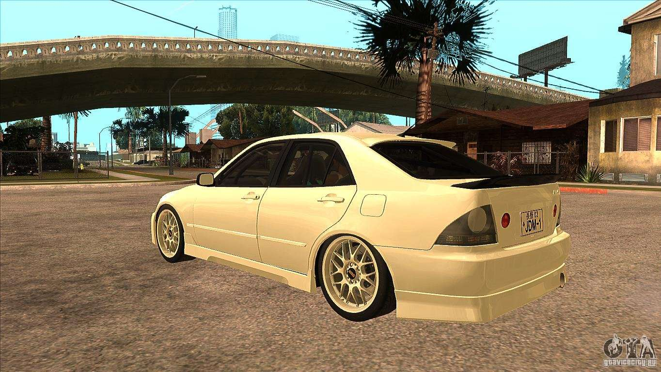 Exceptional Toyota Altezza RS200 JDM Style For GTA San Andreas Back Left View