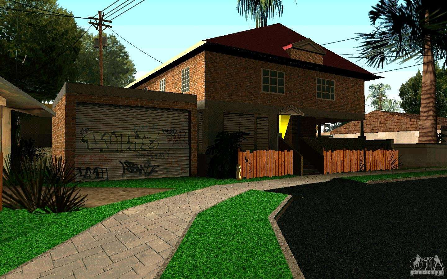 New home on grove street cj for gta san andreas for Grove house