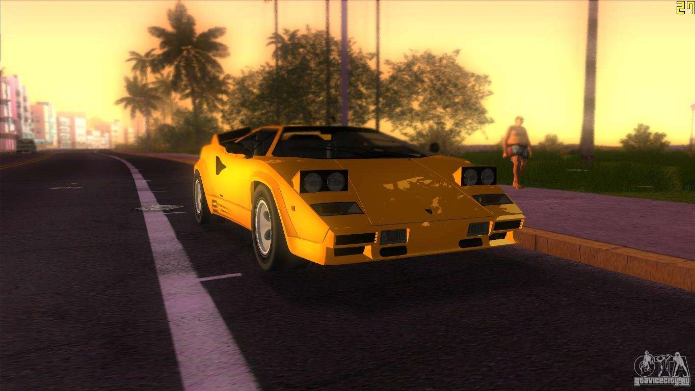 Lamborghini Countach For Gta Vice City
