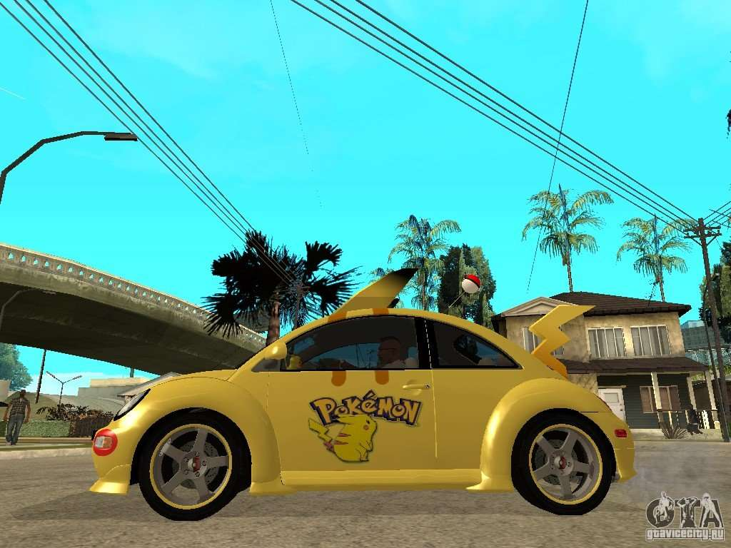 Volkswagen Beetle Pokemon For Gta San Andreas