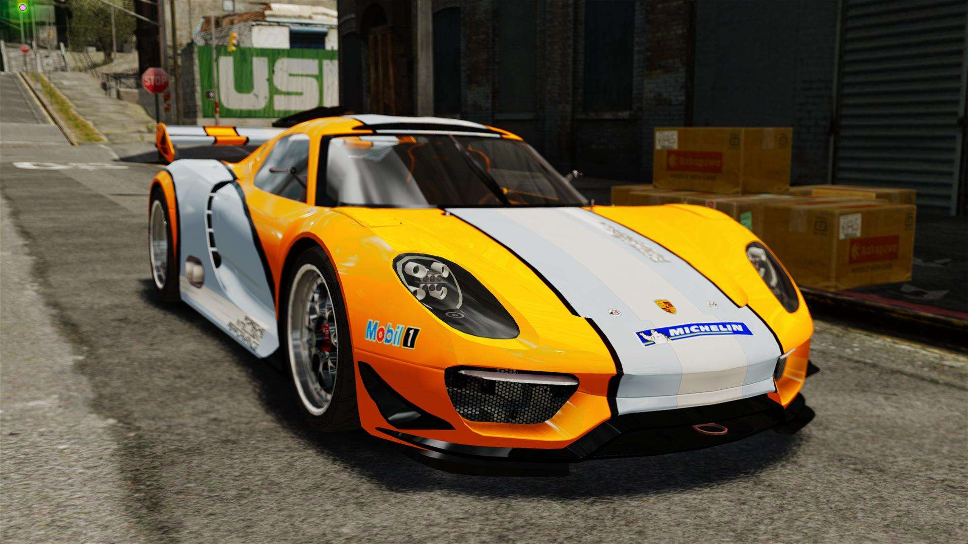 porsche 918 rsr concept for gta 4. Black Bedroom Furniture Sets. Home Design Ideas