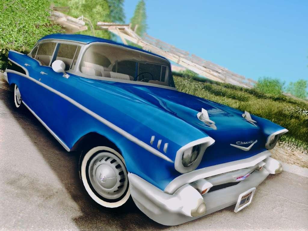 Chevrolet Bel Air 4 Door Sedan 1957 For Gta San Andreas Chevy Hardtop