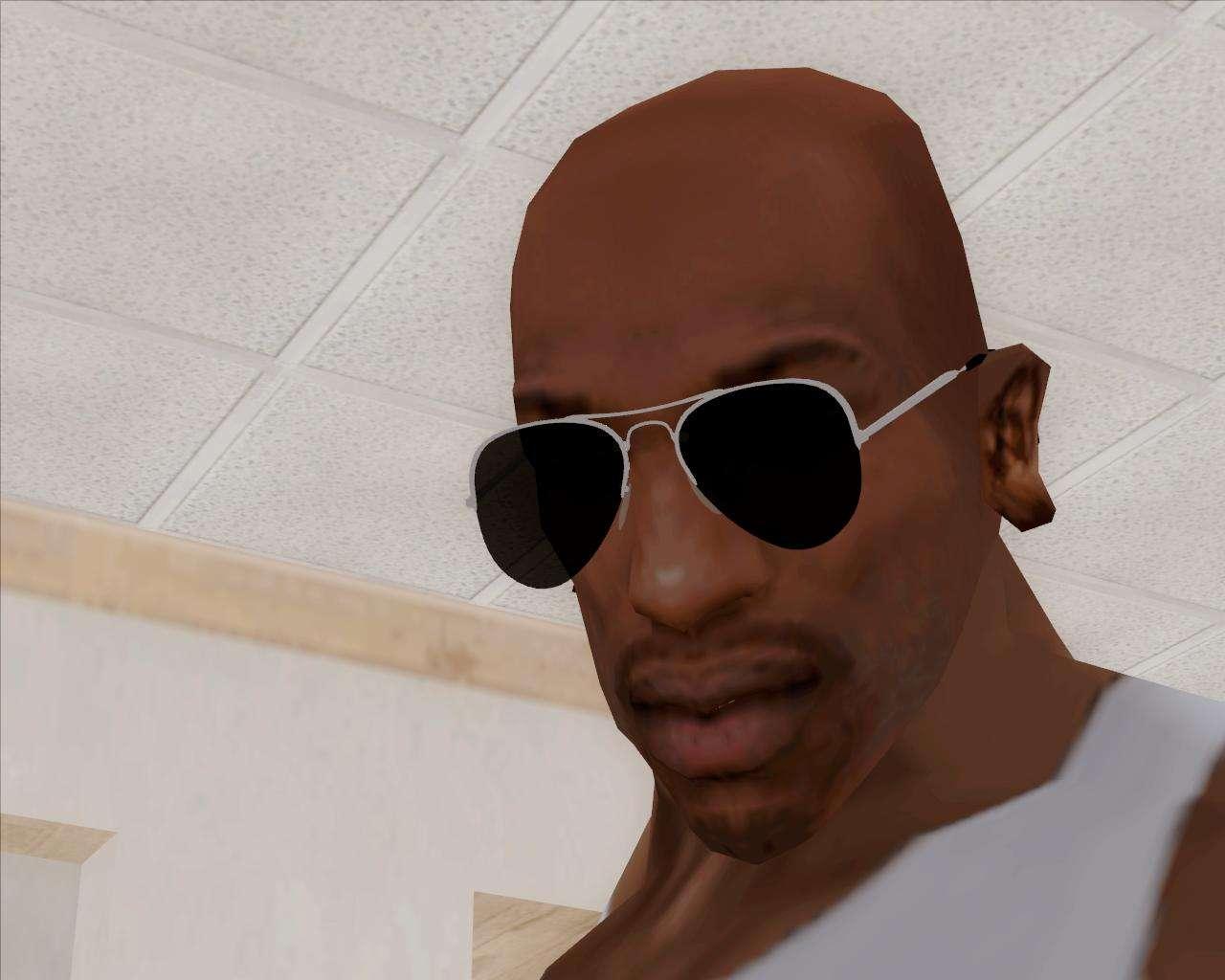 black aviator sunglasses for gta san andreas