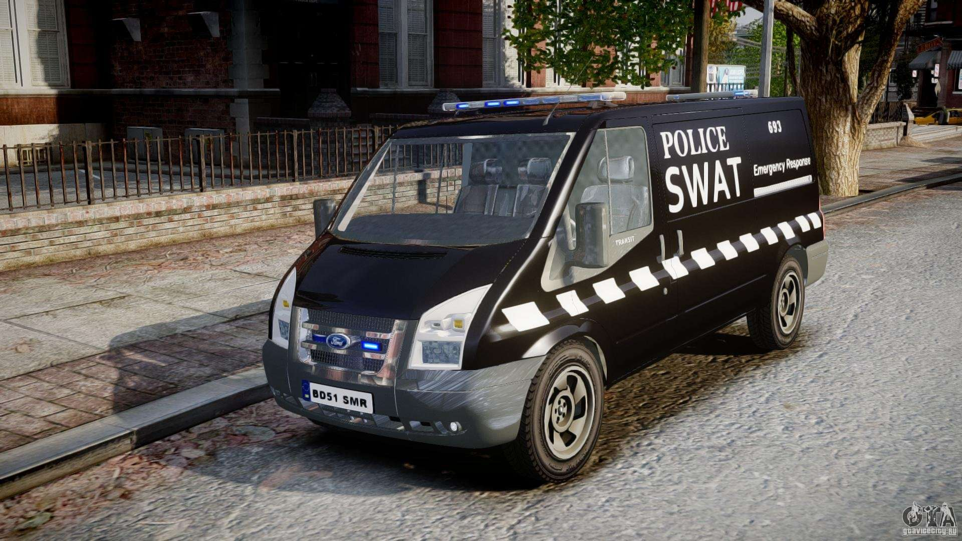 Ford Transit Swat For Gta 4