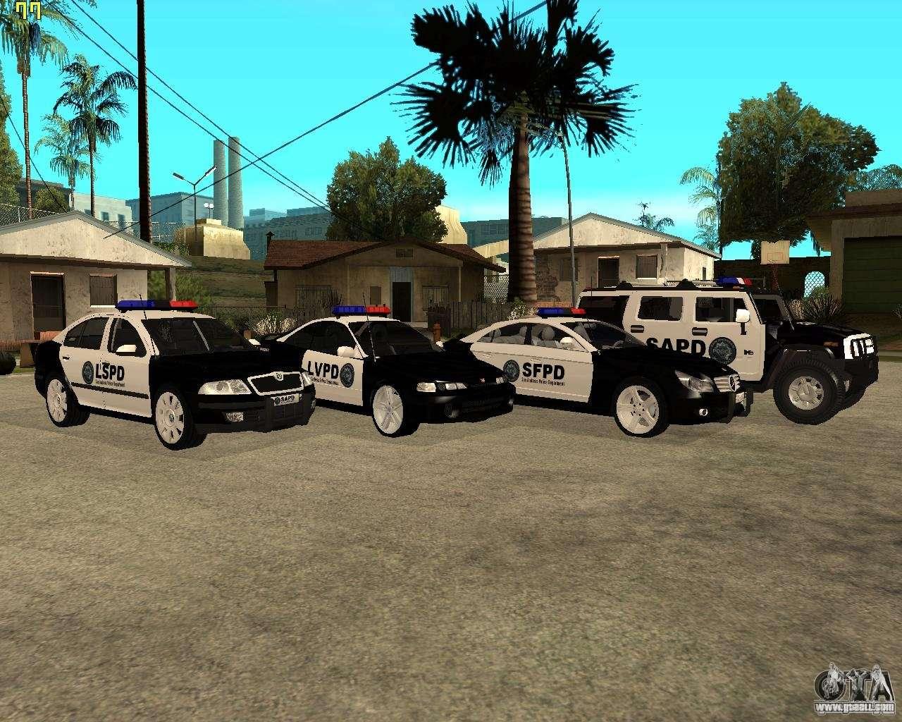 GTA San Andreas SAPD POLICE PACK for GTA San Andreas