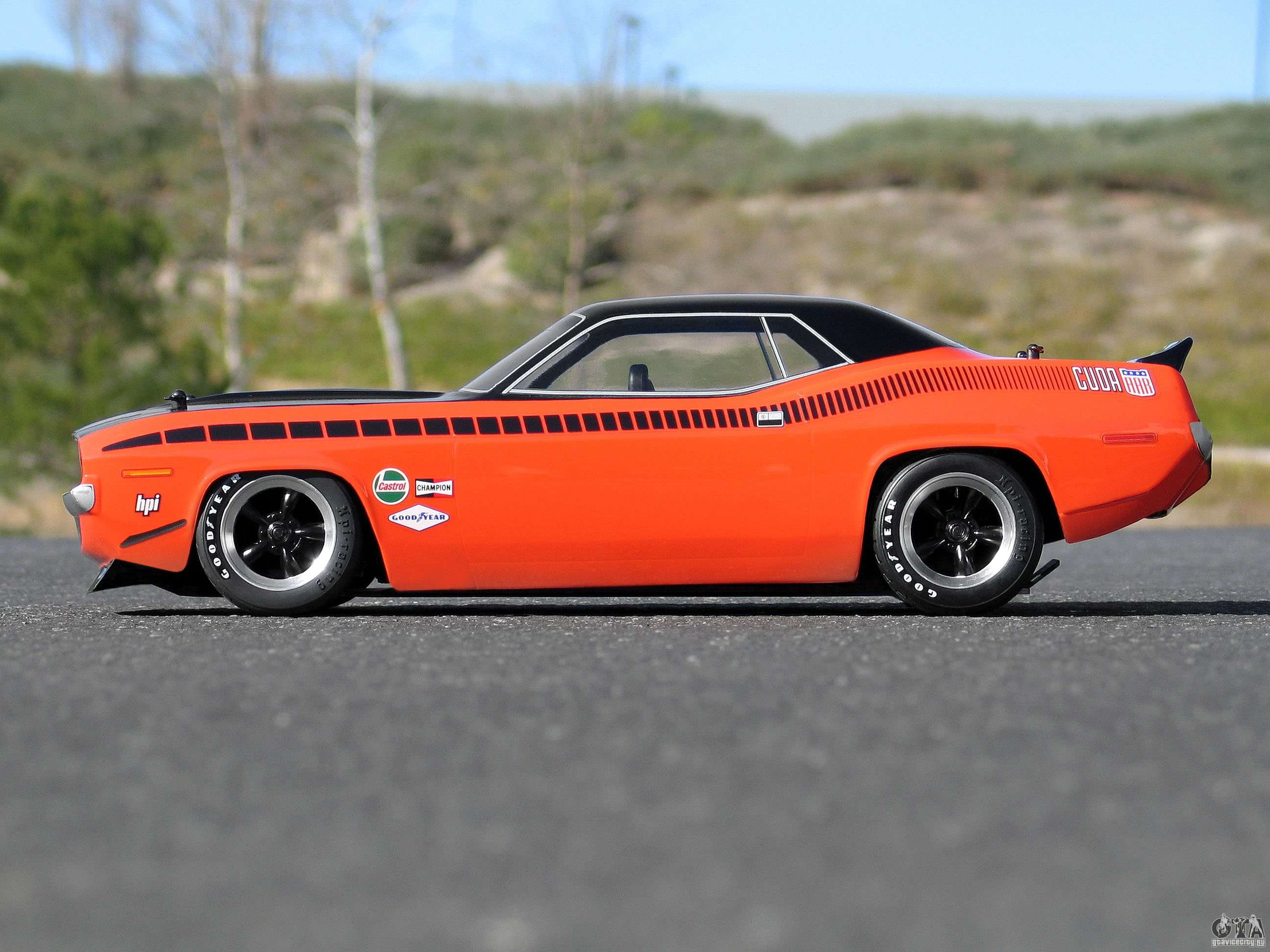nitro rc cars and trucks with 6990 Plymouth Hemi Cuda 1971 on Traxxas Deathrace Mustang likewise Traxxas Slash 4x4 Brushless 1 10 Scale Electric 4wd Short Course Truck W 24ghz Radio further 104 Early RC10 additionally 111763506308 moreover Mad Media Photography Featured In Racer Magazine.