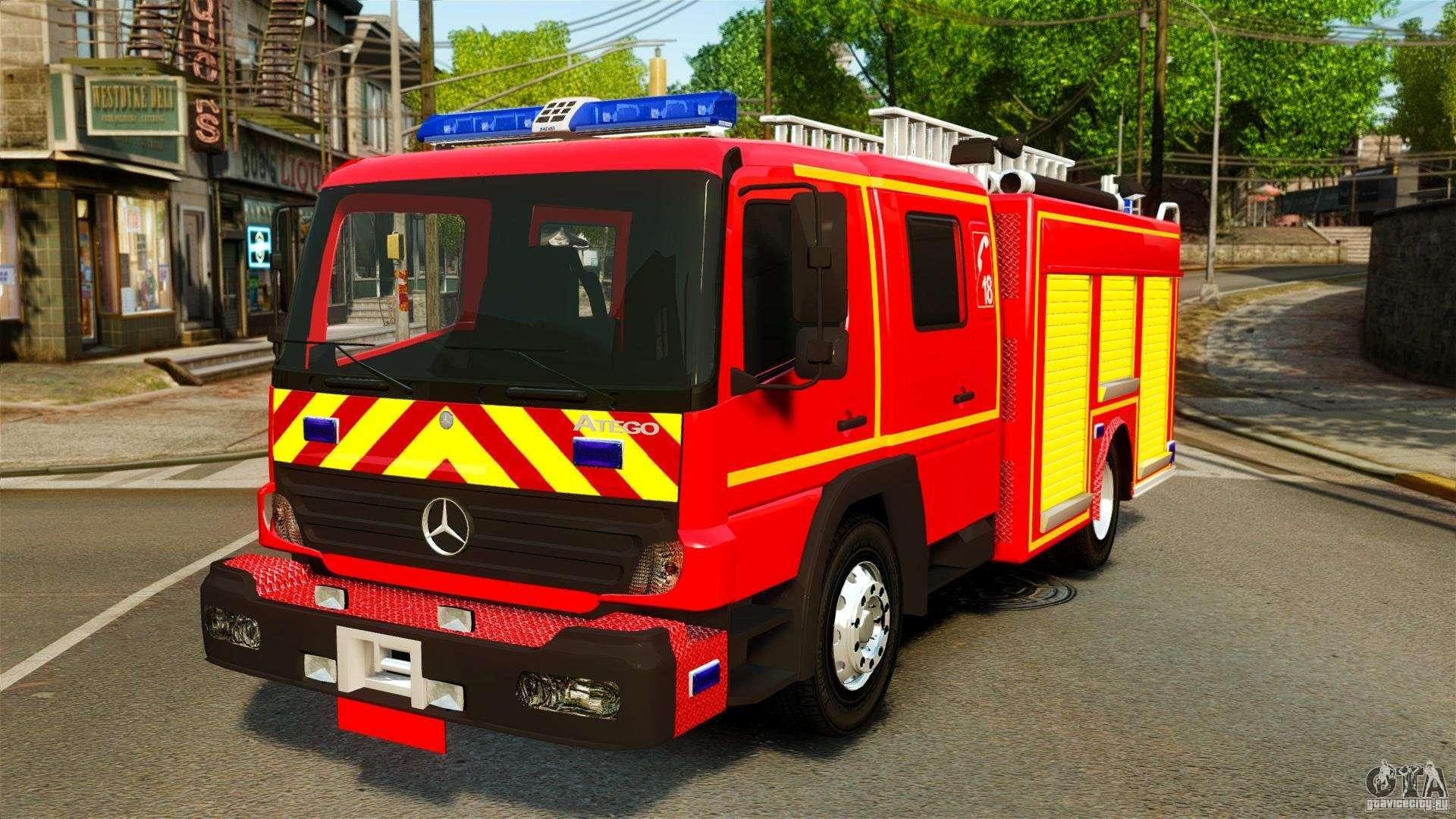 Mercedes benz atego fptgp sapeurs pompiers els for gta 4 for Mercedes benz atego