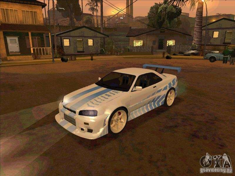 nissan skyline gt r r34 2 fast 2 furious for gta san andreas. Black Bedroom Furniture Sets. Home Design Ideas