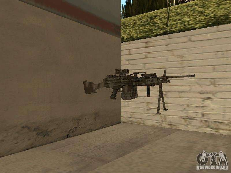 Machine Gun Mk 48 For Gta San Andreas