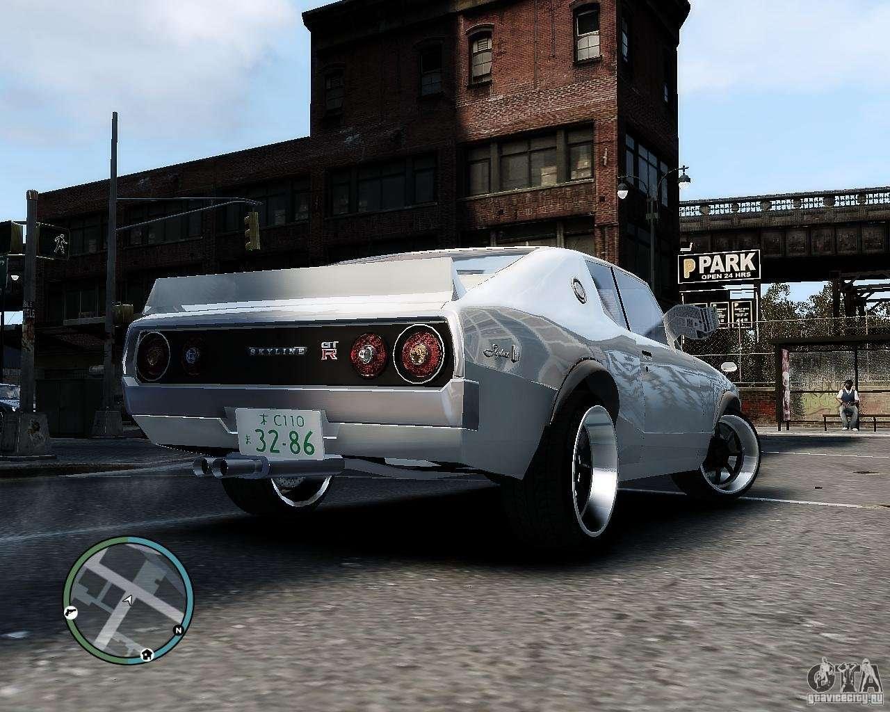 Nissan Skyline KPGC110 2000GT-X For GTA 4
