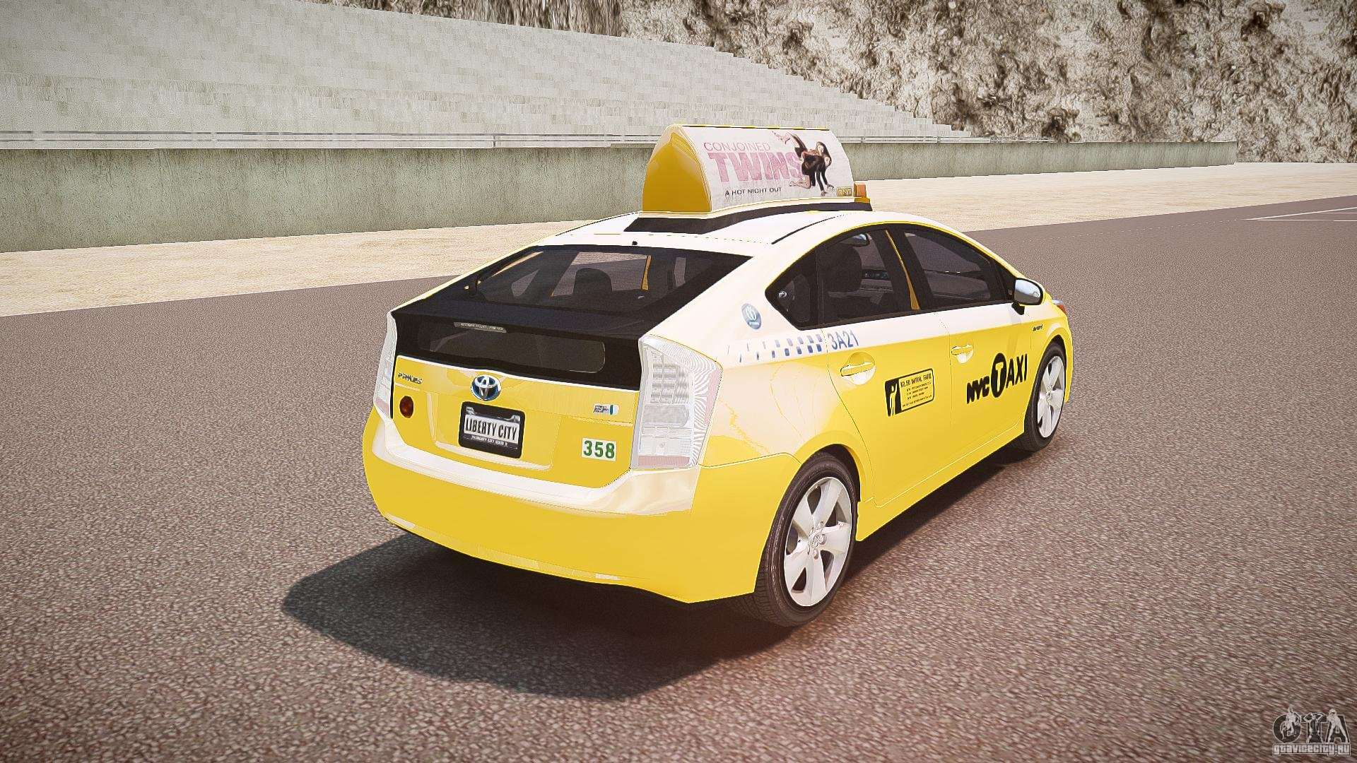 toyota prius nyc taxi 2011 for gta 4. Black Bedroom Furniture Sets. Home Design Ideas