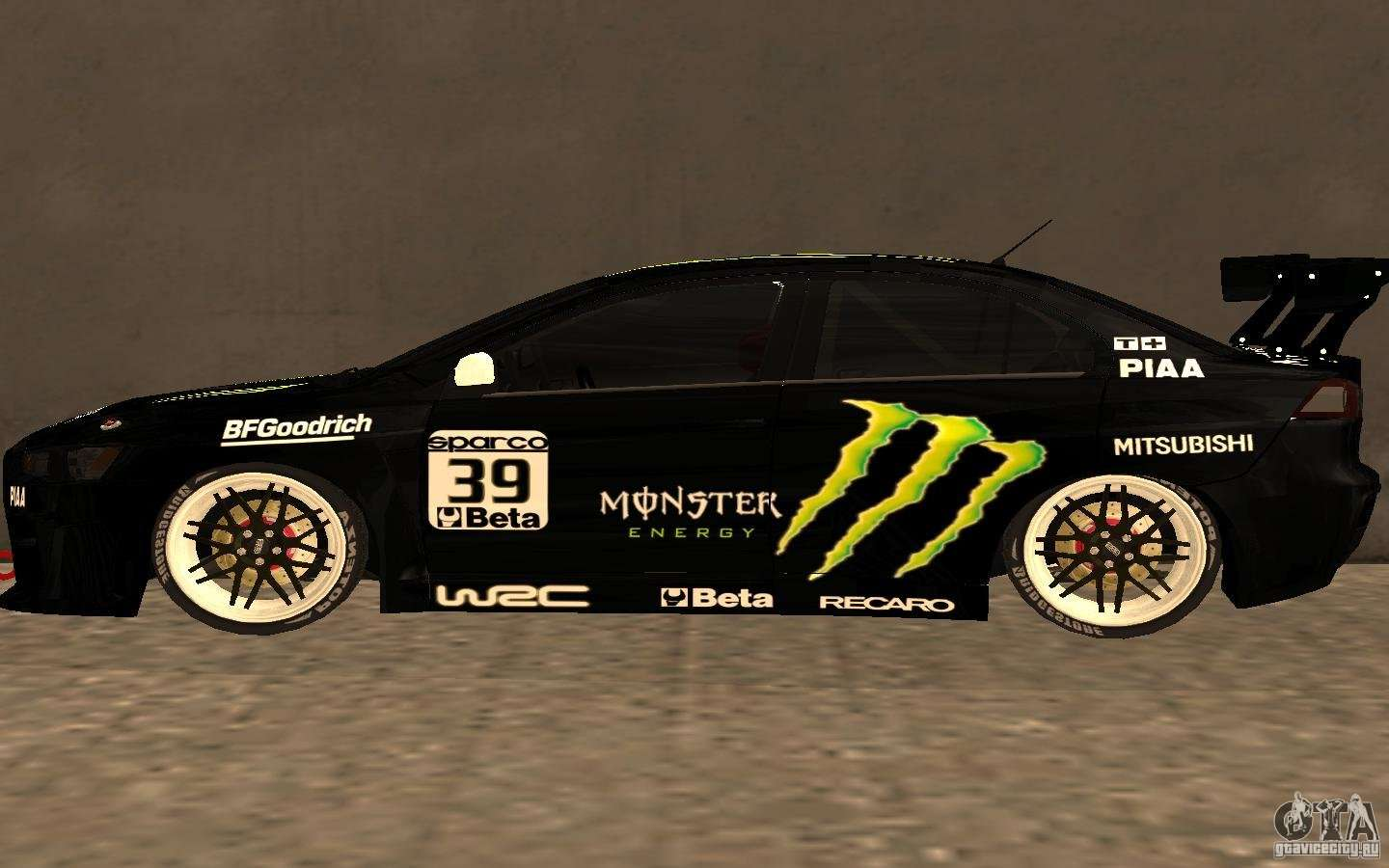 Attractive Mitsubishi Lancer Evolution X Monster Energy For GTA San Andreas Left View Good Ideas