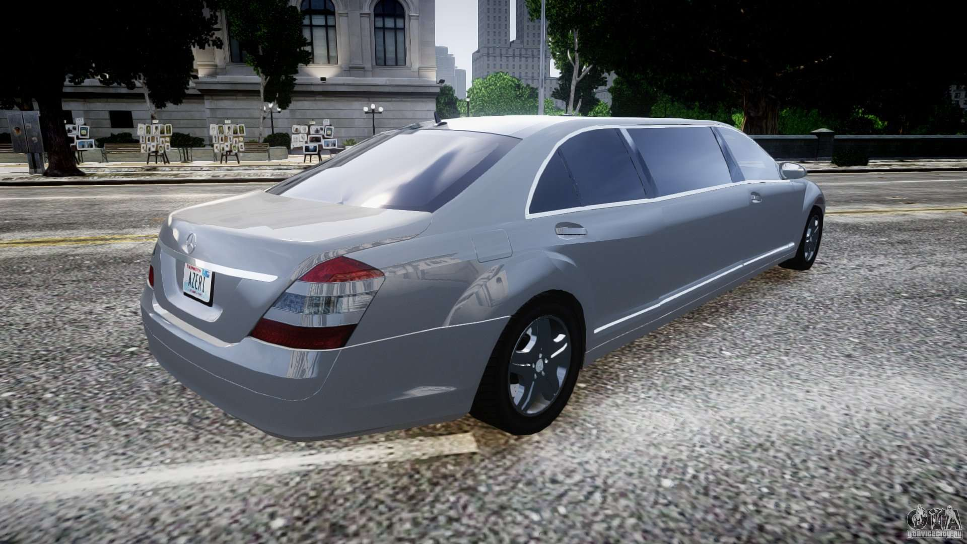 Mercedes benz s600 guard pullman 2008 for gta 4 for S600 mercedes benz