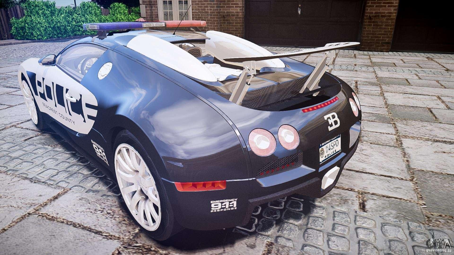 bugatti veyron 16 4 police epm els for gta 4. Black Bedroom Furniture Sets. Home Design Ideas