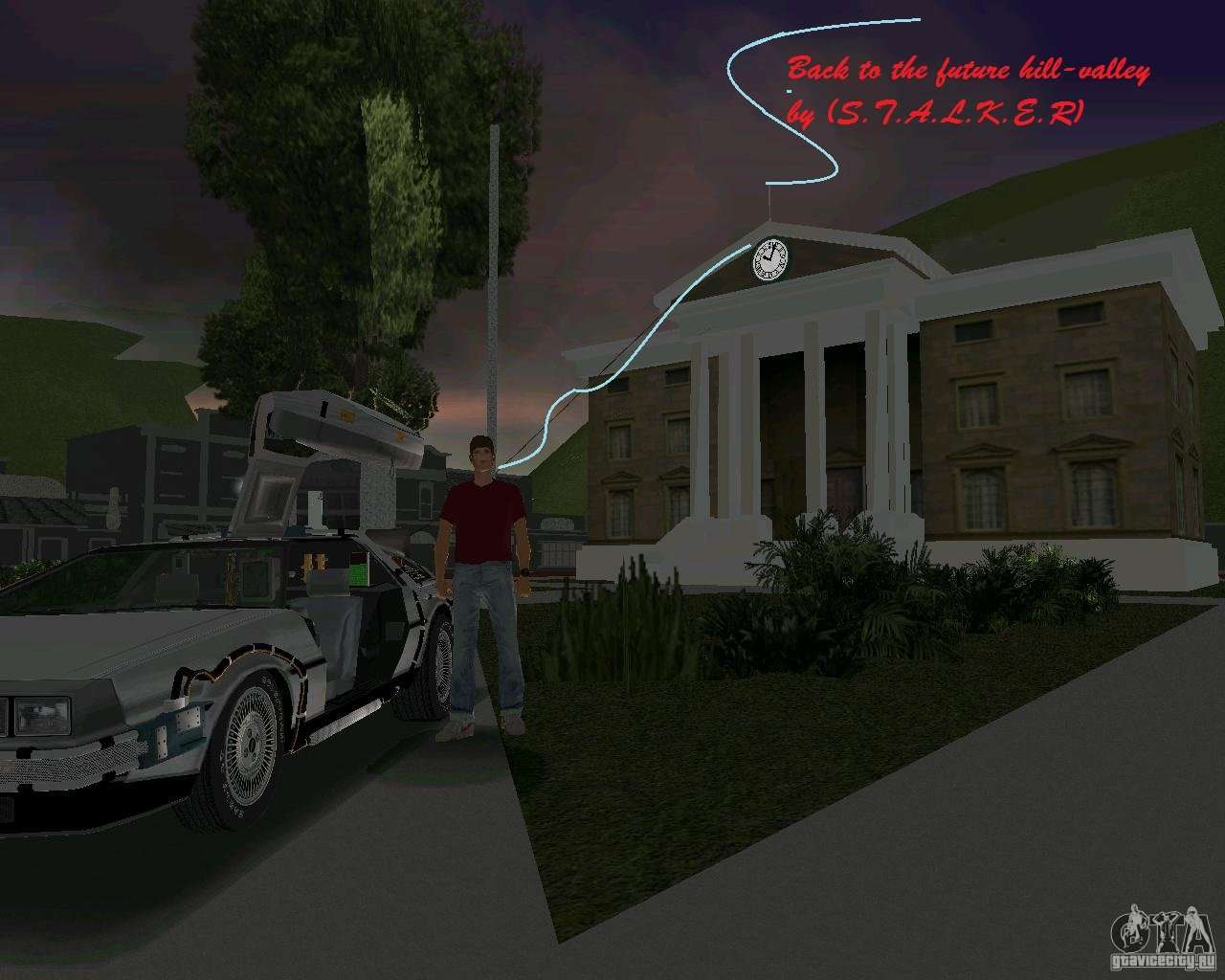 Back To The Future Hill Valley For Gta Vice City