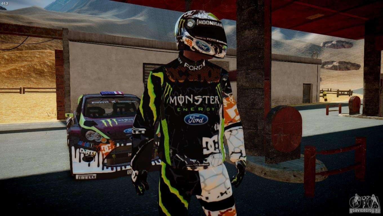 Ken Block Mustang >> Ken Block Gymkhana 5 Clothes (Unofficial DC) for GTA 4