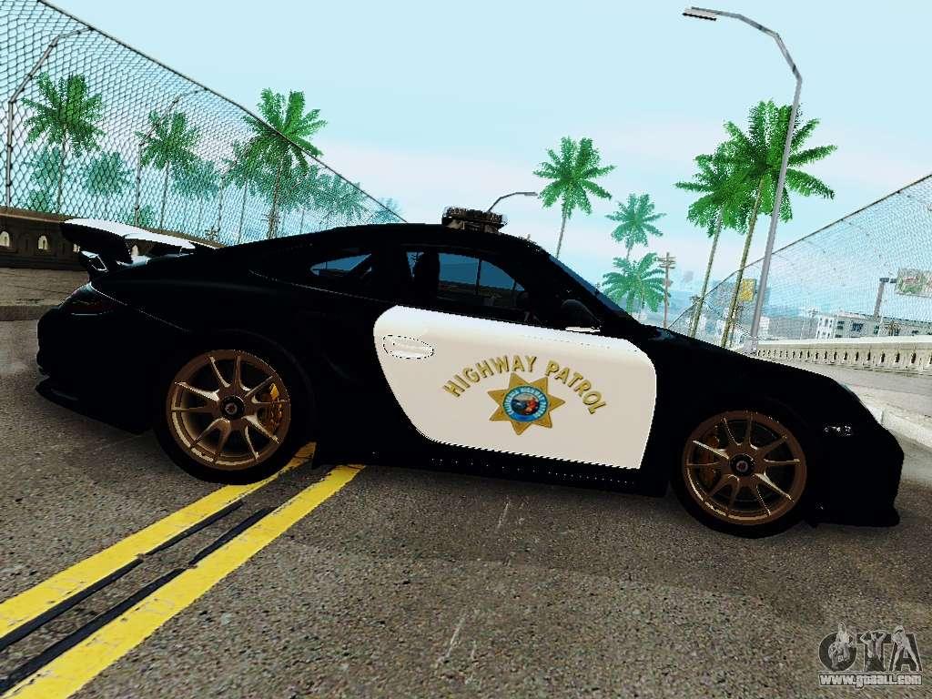 porsche 911 gt2 rs 997 police for gta san andreas. Black Bedroom Furniture Sets. Home Design Ideas