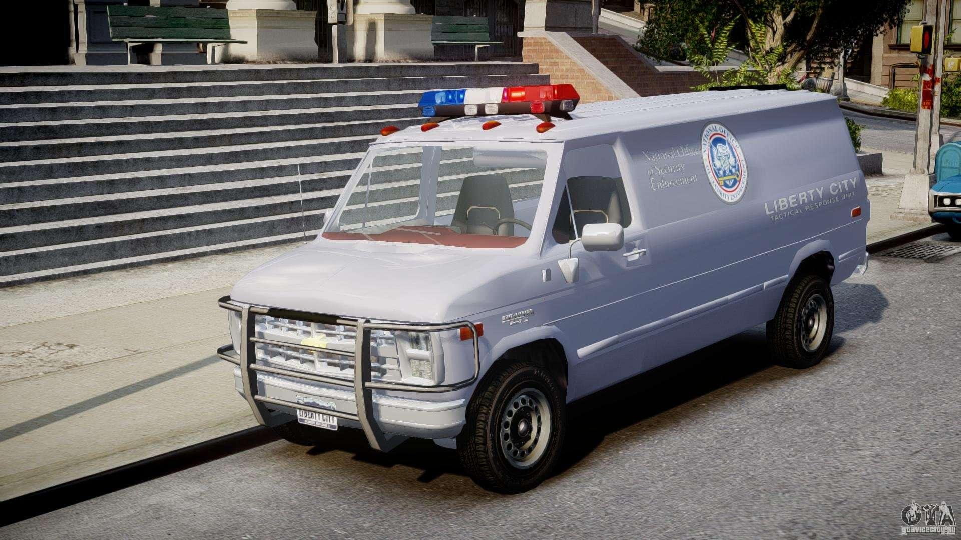 Chevrolet g20 police van els for gta 4