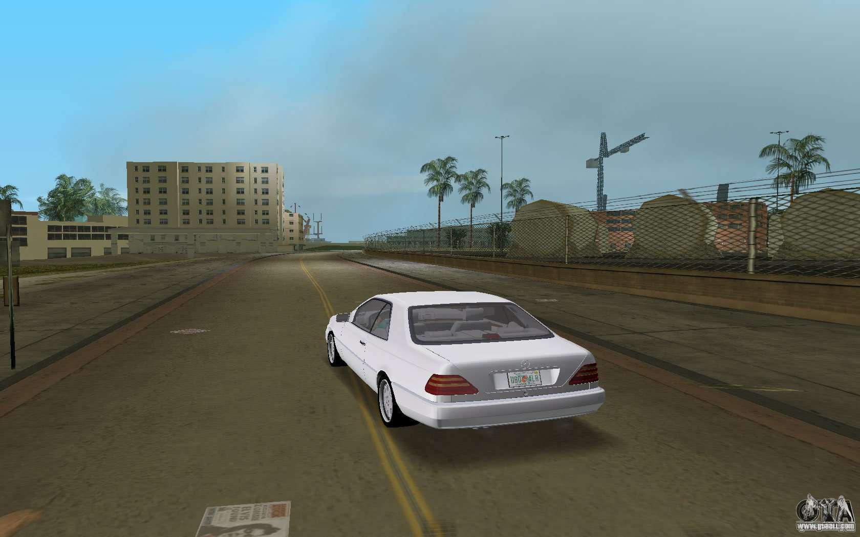 Mercedes benz 600sec c140 1992 for gta vice city for Mercedes benz city