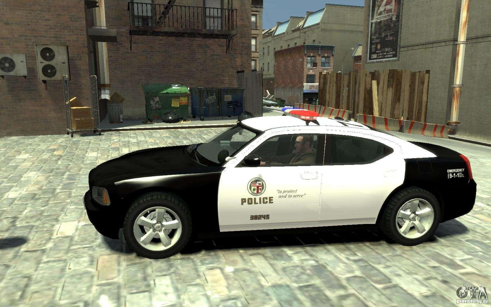 Dodge Charger Lapd V1 6 For Gta 4
