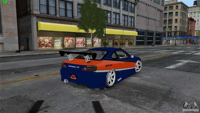 Nissan silvia s15 tokyo drift for gta 4 back left view