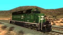 SD 40 Union Pacific Burlington Northern 3149 for GTA San Andreas