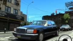 Mercedes-Benz W126 SEL560 1990 for GTA 4