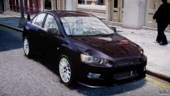 Mitsubishi Lancer X for GTA 4