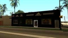 Complete replacement of the Binco store Adidas for GTA San Andreas