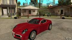 Alfa Romeo 8 c Competizione stock for GTA San Andreas