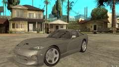 Dodge Viper GTS silver for GTA San Andreas
