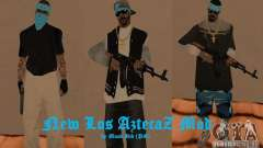 New Los Aztecas skins for GTA San Andreas