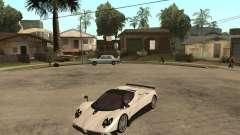 Pagani Zonda F white for GTA San Andreas