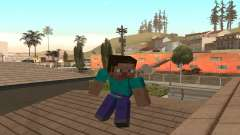 Steve from the game Minecraft skin