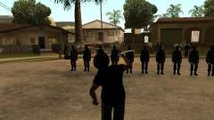 The fight with the katanas on Grove Street