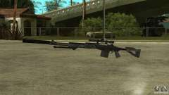 MK14 EBR with a silencer