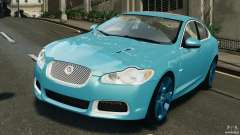 Jaguar XFR 2010 v2.0 turquoise for GTA 4