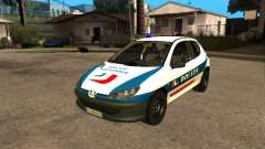 Peugeot 206 Police for GTA San Andreas