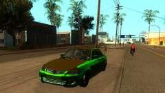 VAZ 2170 green for GTA San Andreas